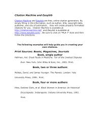 Citation Machine And Easybib