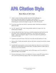 Basic Rules Of Apa Style