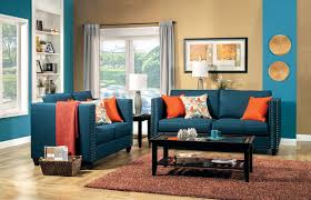 blue living room set