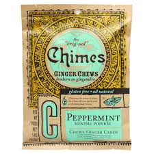 Chimes <b>Ginger Chews</b> Chewy Candy with <b>Peppermint</b>, <b>5</b> oz – Auntie ...