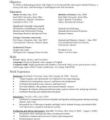 Resume In Spanish Example Resume Maker Create Professional Pinterest