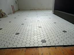 black and white hexagon tile bathroom floor best hex