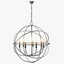 foucaults iron orb chandelier rustic iron medium