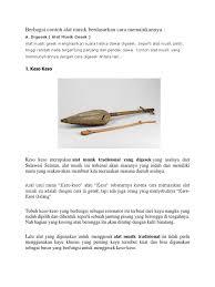 36 alat musik tradisional indonesia lengkap 34 provinsi. Contoh Alat Musik Dan Cara Memainkannya Enak