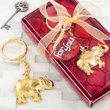 50 gold keychain wedding bridal baby shower party gift favors elephant indian ozicto4010 favours party bag fillers