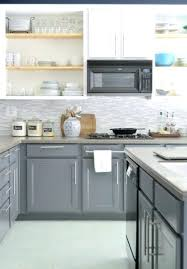 how to paint kitchen countertops inspiring makeover painted cabinets in gray white with new glass tile