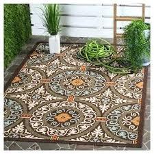 safavieh indoor outdoor rug indoor outdoor rug chocolate brown aqua 6 7 x 9 6 safavieh