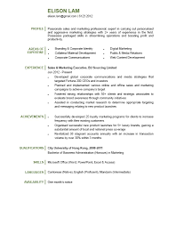 Personal Profile For Sales Amp Marketing Perfect Resume Format