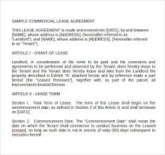 Sample Land Lease Agreement
