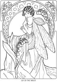 Small Picture 41 best coloring pages of fairies images on Pinterest Draw