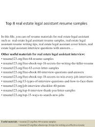 Legal Assistant Resume Samples top60realestatelegalassistantresumesamples6050529606036007lva60app660960thumbnail60jpgcb=6060329600336 29