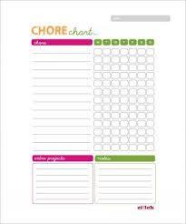 Chore Chart Samples 24 Free Chore Chart Examples Pdf Doc Examples
