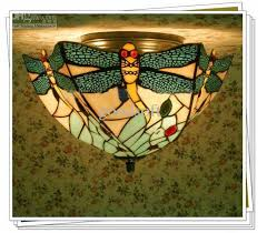 2018 style colorful glass ceiling light flush mount with 3 lights dragonfly patterned chandelier from goodsoft 101 97 dhgate com