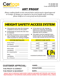 Posts related to safety harness inspection checklist template. Inspection Identification Tags Labels Certags