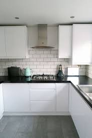 Our new kitchen which we designed with Wickes. I love the white gloss, mint