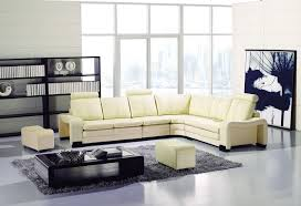 faux leather sectional. Modern Ivory Faux Leather Sectional Sofa