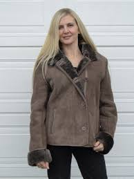 las short sheepskin classic jacket