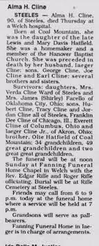 Alma Hatfield Cline (1900-1990) - Find A Grave Memorial