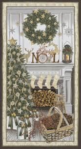 White Christmas Fabric Panel / Christmas Tree & Noel Panel ... & White Christmas Fabric Panel / Christmas Tree & Noel Panel / Holiday Fabric  Panels / Christmas Fabric Panel / 24