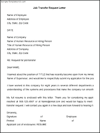 Employee Transfer Letter Pdf Job Transfer Request Letter Sample Employee Relocation Template