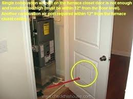 air handler closet furnace door ideas soundproofing