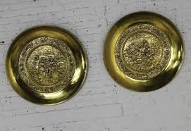 monumental brassware decorative embossed english wall plates by rage