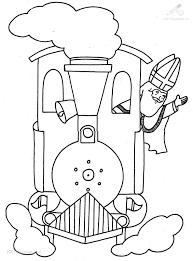1001 Kleurplaten Sinterklaas Sint Sinterklaas In De Trein