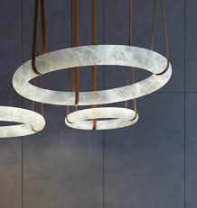 pendant lamp contemporary leather alabaster oslo