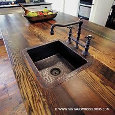 44 reclaimed wood rustic countertop ideas 12
