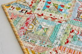 Easy Scrap fabric quilt block - Diary of a Quilter - a quilt blog & Layer quilt top with batting and backing pieces underneath and quilt as  desired (machine quilting tutorial here.) Using remaining fabric or scraps  to create ... Adamdwight.com