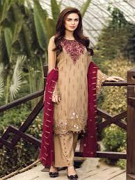 Salwar Kameez Latest Designs Online Buy Online Designer Chiku Salwar Kameez Suit Made Up Of Best