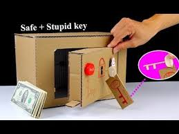 How To Make A Vending Machine Out Of Cardboard Box Unique How To Make A Safe Locker From Cardboard With ' Stupid ' Key Mr H48