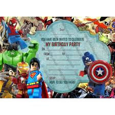 superheroes birthday party invitations new boys birthday party invitations lego hero lego marvel hero