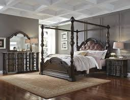Pulaski Furniture Bedroom Pulaski Furniture Cortina Upholstered Canopy Bed Set 6941 By