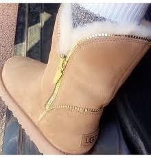 shoes gold zipper ugg boots blouse