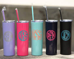Skinny Steel Monogram Cup - Personalized Tumbler - Christmas Gift - Christmas  Gift Ideas - Employee