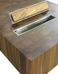 countertop garbage ring kitchen wood counter top with waste another counters countertop trash