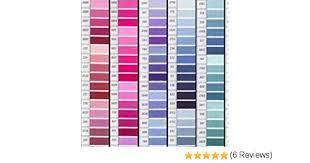 Dmc Color Chart 2017 Dmc Floss Color Colour Card With Real Thread Samples