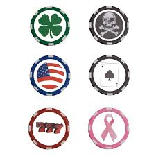 ball markers. poker chip ball markers