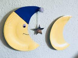Einen Mond Aus Pappteller Mit Kindern Basteln Der