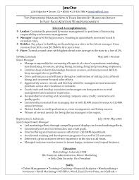 Retail Manager Resume Examples And Samples Retail District Manager