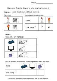 Reading Tally Charts Worksheets