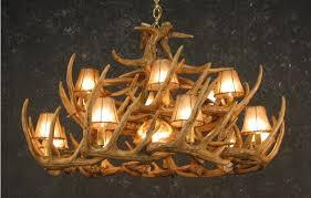 how to make a deer horn chandelier rustic