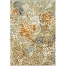5 x 8 medium gold and beige area rug evolution