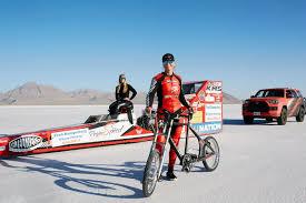 Bicycle Speed Record Broken - Denise Mueller-Korenek Bikes at 183.93 MPH
