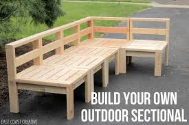 diy wood deck furniture. east coast creative: how to build an outdoor sectional {knock it off} furniture, patio furniture diy wood deck o