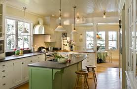 kitchen lighting ideas for low ceilings kitchen beach style with country kitchen island lighting green island