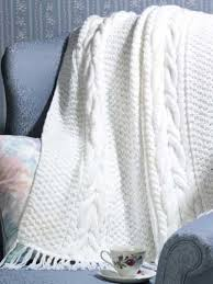 70 best Free Afghan Knitting Patterns images on Pinterest ... & Free Cabled Afghan Knitting Patterns - Cables and lace are combined with a  simple garter stitch edge to create this dramatic but delicate throw. Adamdwight.com