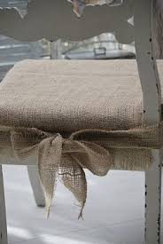 burlap chair pads for my kitchen chairs