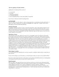 Striking Cover Letter Academic Position Letters For Lecturer With